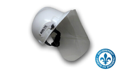 Clips and visor for contruction helmet